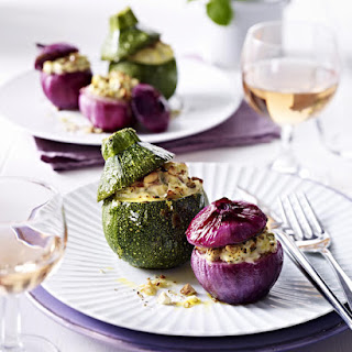 Stuffed Onions and Zucchini.