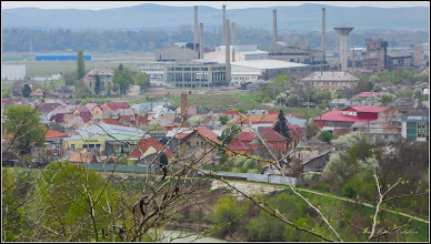 Photo: Vedere panorama din Cimitirul Crestin Central - vedere zona industriala - 2017.04.13
