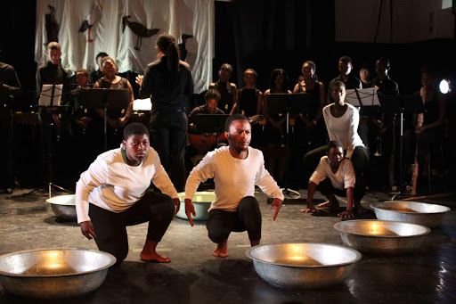 BRIGHT FUTURE: Talented performers of Hamburg's community-uplifting Keiskamma Trust on stage during the opening of the acclaimed production, 'Indalo', at the arts festival Picture: DAVID MACGREGOR