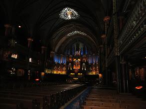 Photo: Inside Notre Dame - lousy photo. It was pretty dark.