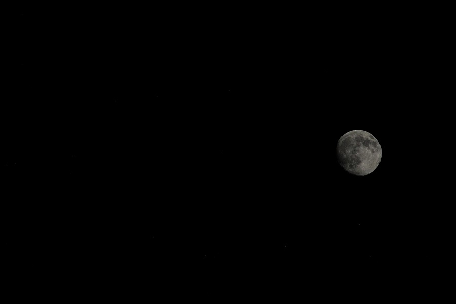 Moon by Zach Boudreaux - Black & White Landscapes ( moon, black and white, beautiful, night )