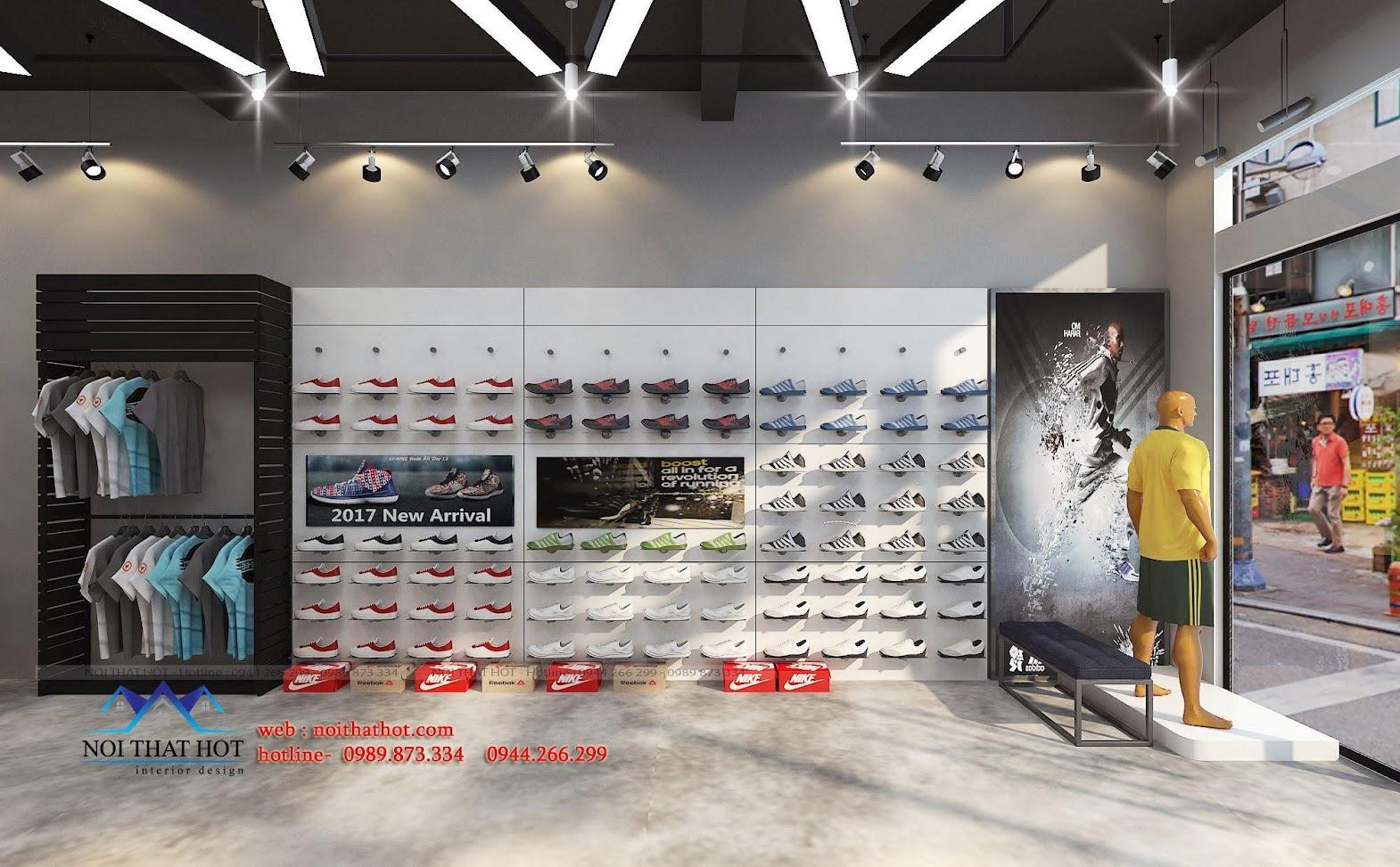 thiết kế shop thời trang adidas 3