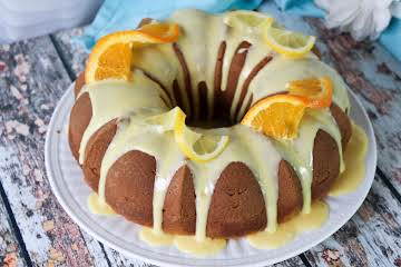 Citrus Pound Cake With Orange Glaze