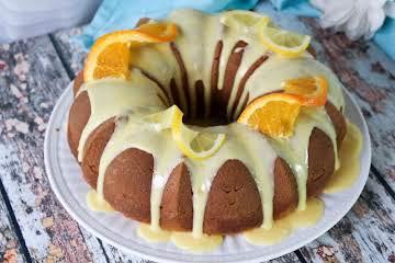 Citrus Pound Cake With Orange Glaze