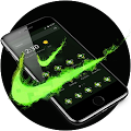 Green Neon Check Mark Theme APK
