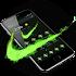 Green Neon Check Mark Theme