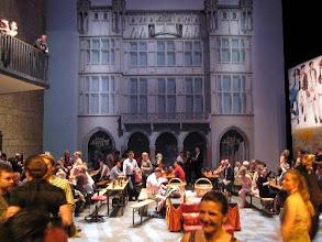 """Photo: ABSCHIED VON DER OPER KÖLN vor der Renovierung (Juni 2012). Abschiedsfeier in den Kulissen der """"Meistersinger"""" - aufgenommen von der legendären """"Titus-Höhe"""". Foto: Andrea Matzker/Egon Schlesinger"""