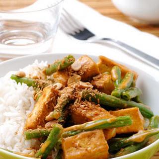 Kokoscurry Met Sperzieboontjes En Tofu