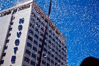 Photo: Confetti Fills the Air