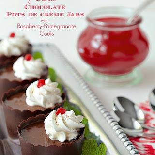 Edible Chocolate Pots de Crème Jars