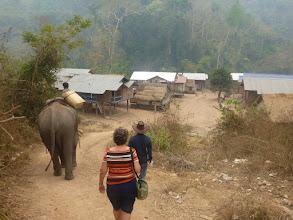Photo: Jde se pracovat. Následujeme slona a jeho vodiče (mahouta).