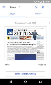 az Aargauer Zeitung E-Paper screenshot 0