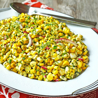 Fresh Corn and Herb Salad
