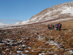 Photo: Greenland - Ascending into snow on Day 6