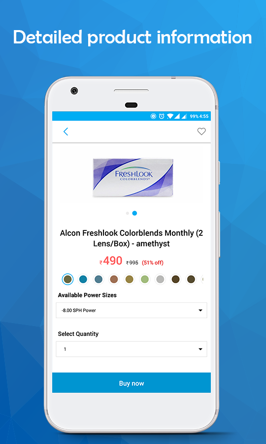 Contact Lenses, Sunglasses & Eyeglasses - LensPick- screenshot