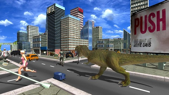 Angry Dinosaur City Attack Simulator 3D - náhled