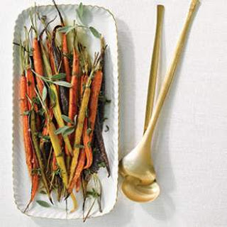 Roasted Rainbow Carrots with Sage Brown Butter.