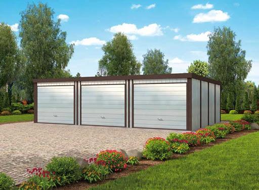 projekt GB54 Garaż Blaszany Trzystanowiskowy