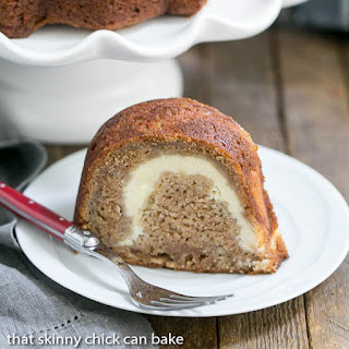 Apple Bundt Cake with Cream Cheese Filling.