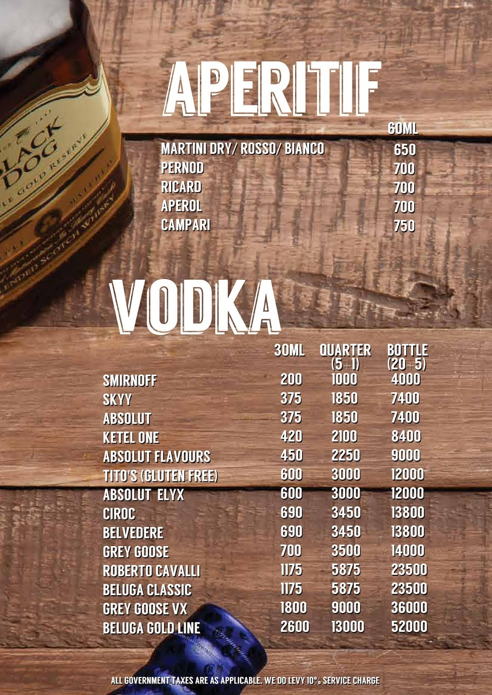 Lord Of The Drinks menu 7