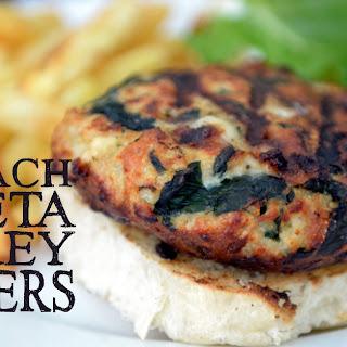 Easy Freezer Spinach & Feta Turkey Burgers.