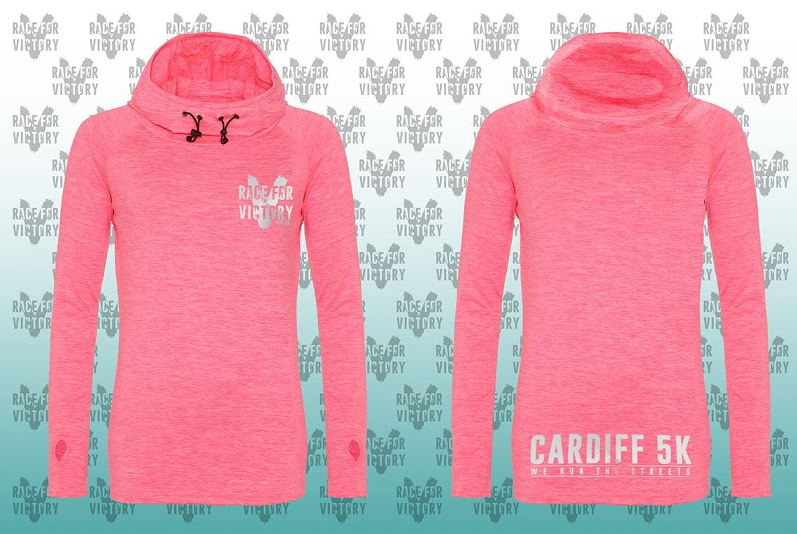 Cardiff 5K - Pink Girls Cowl Neck Top