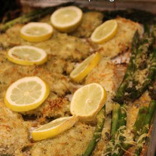 One Pan Parmesan Lemon Chicken and Asparagus #SundaySupper.