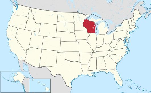 Wisconsin - Mapa