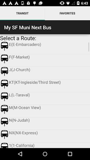 My SF Muni Next Bus