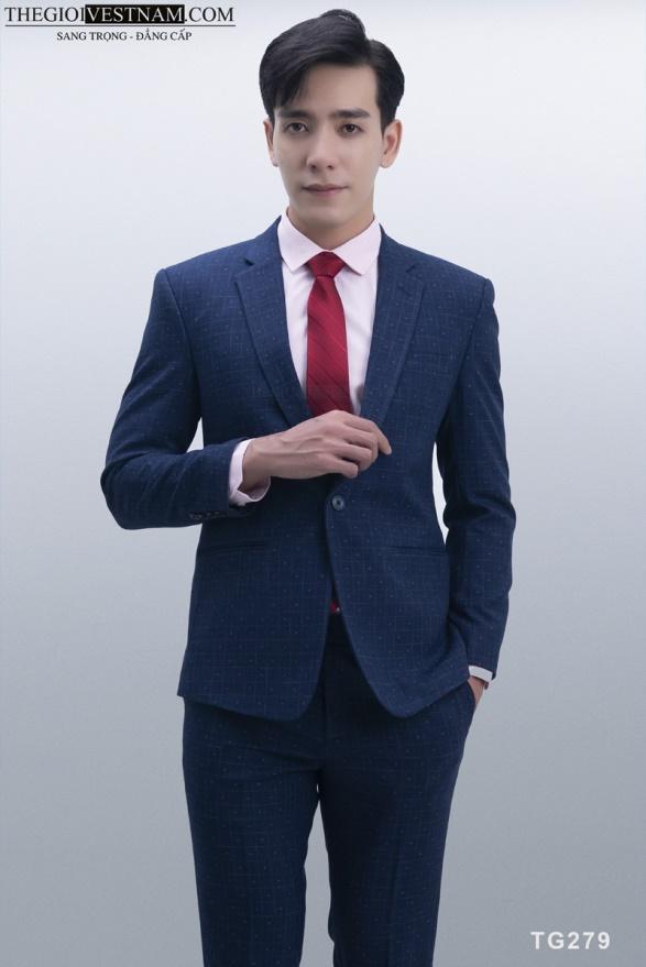 Vest xanh caro bông tuyết 1 nút