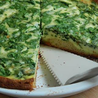 Spinach And Ricotta Breakfast Pie.