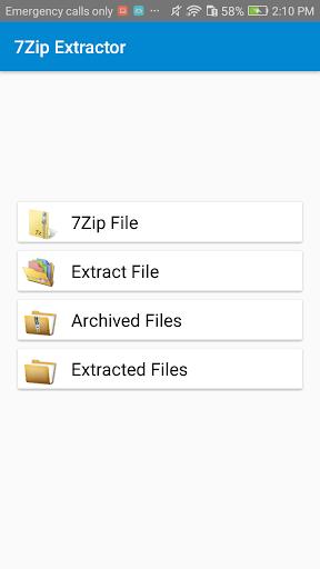 Lite 7z zip & 7z File Extractor 1.1.1 screenshots 1