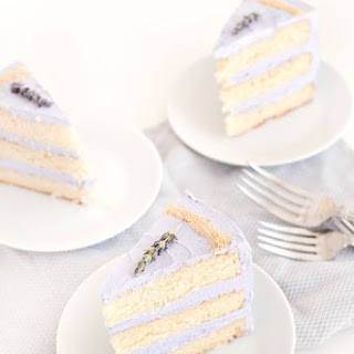 Honey Lavender Cake.