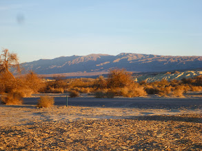 Photo: View of the Grapevine Mtns from Furnace Creek Campground.