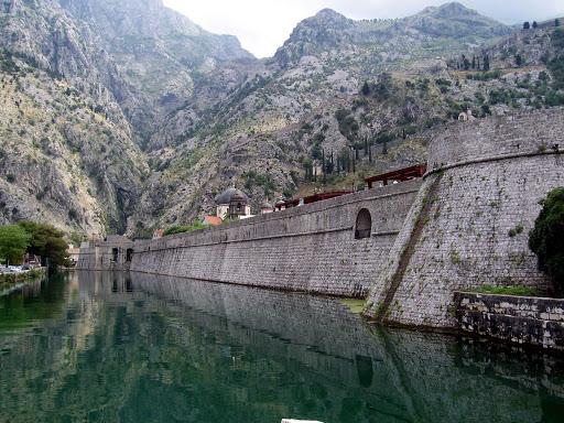 Montenegro-Kotor-Old-Town - The walls of Kotor surround the old town of Kotor, Montenegro.