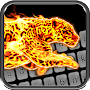 Cheetah Fire Animated Keyboard + Live Wallpaper