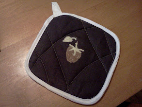 Photo: pot holder / hot pad for a gift
