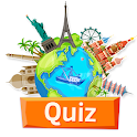 Geography quiz world countries, flags and capitals icon