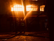 Firefighters responded to a massive building fire in Jeppestown, in the Johannesburg CBD, on Friday night.