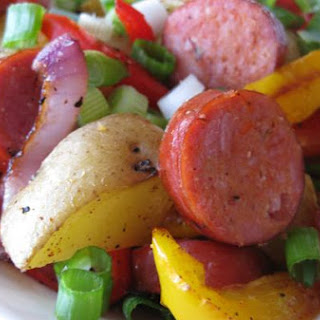 Andouille Sausage and Potato Hash.