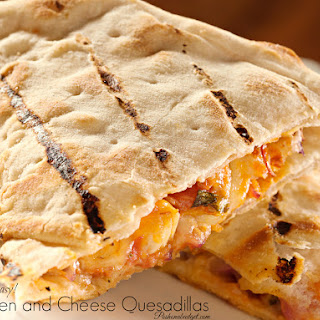 Delicious! Chicken and Cheese Quesadillas
