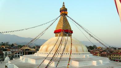 Photo: Abendstimmung am Boudnath Stupa