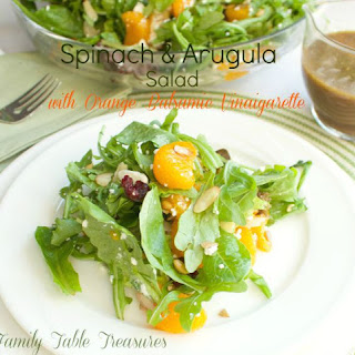 Spinach & Arugula Salad {with Orange Balsamic Vinaigarette} Recipe