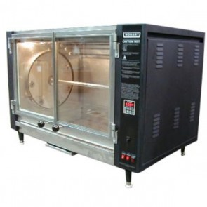 Gas powered commercial chicken rotisserie ovens