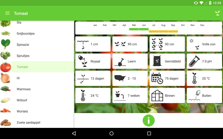 Gardroid groenten tuin android apps op google play for Groenten tuin