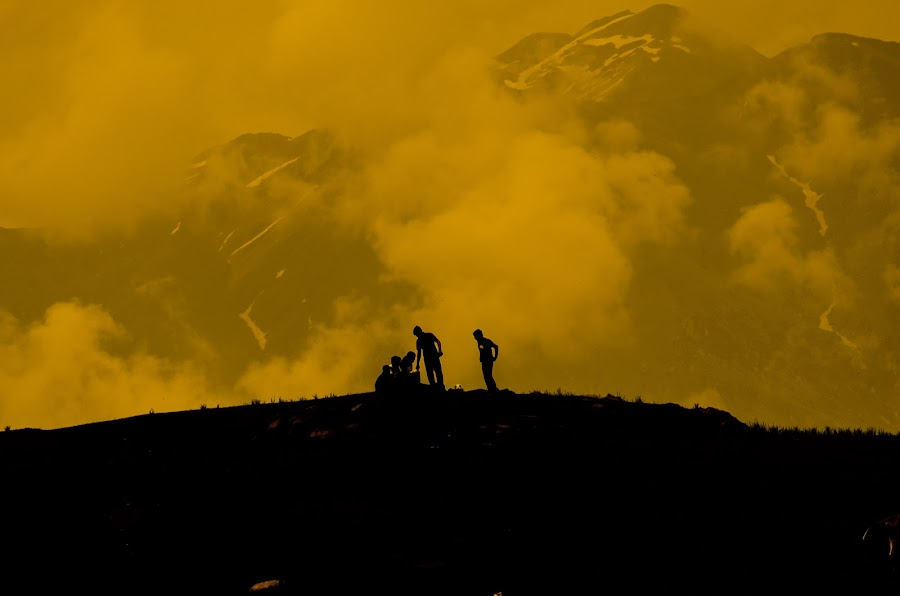 TOP OF THE WORLD by Syed Nayyar Hussain Kazmi - Landscapes Mountains & Hills ( clouds, friends, hicking, mountain, peak, celebrations,  )