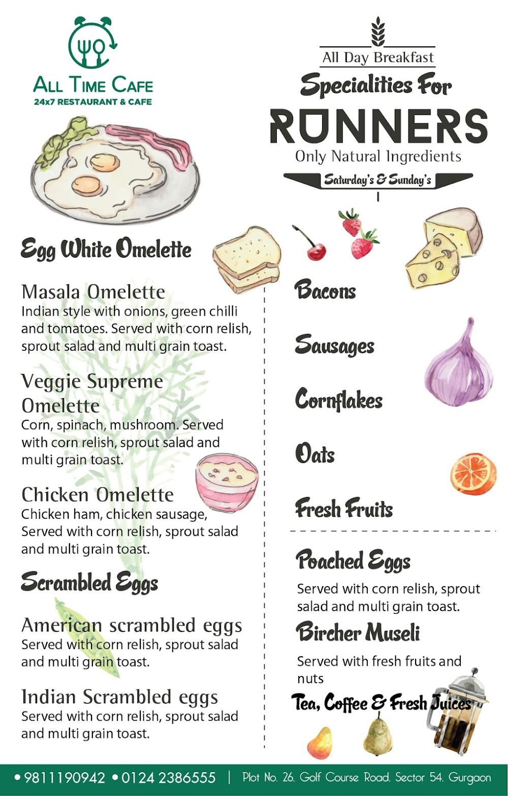 All Time Cafe menu 1