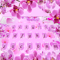 Pink Orchid Flower Keyboard Theme APK