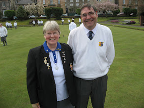 Photo: Lady Captain - Rosemary McWilliam & President - Brian Lindsay