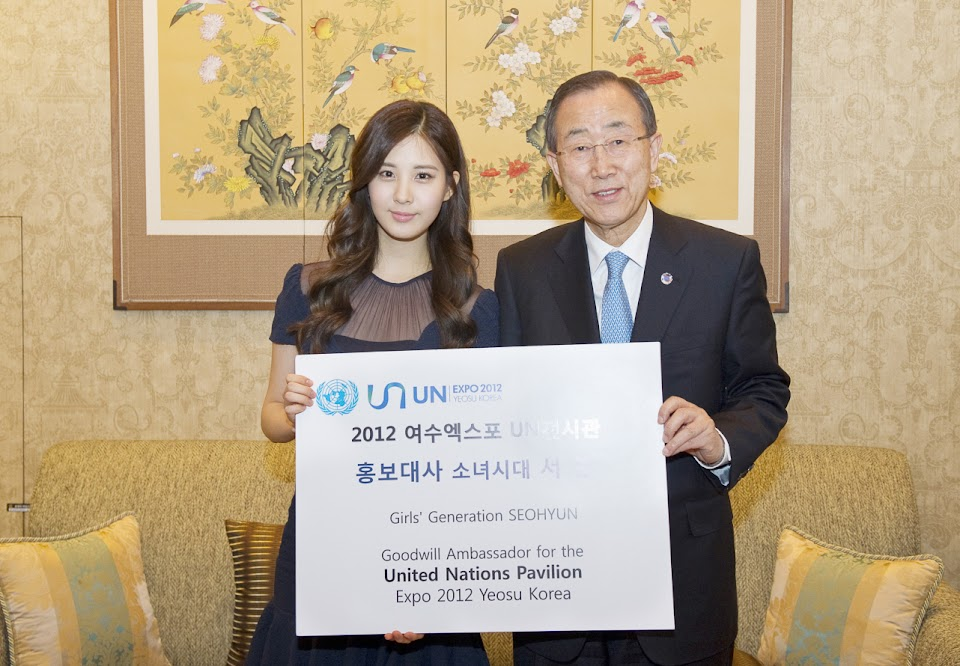 Briefing on Yeosu World EXPO by Samuel Koo, UN¡¯s co-Commissioner General for Yeosu EXPOMs. Seo Hyun, Goodwill Ambassador for Yeosu ExpoMs. Lee Eun-jin, consultant for Yeosu ExpoMs. Ya-ya Kim, media manager for Yeosu Expo